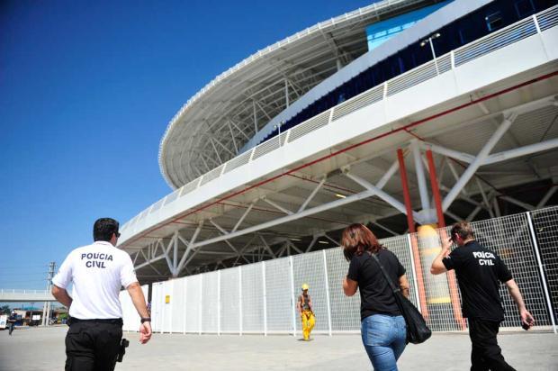 """A avalanche na Arena será proibida"", diz comandante dos Bombeiros Diego Vara/Agência RBS/"