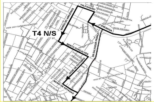 Linhas de ônibus T2, T4, T11 e T11A mudam itinerário em Porto Alegre Prefeitura de Porto Alegre/Divulgação