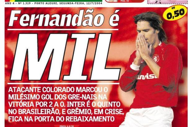 Relembre capas marcantes do Diário Gaúcho com Fernandão Diário Gaúcho/Agência RBS