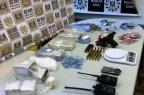 Ação conjunta da polícia apreende drogas e armas na Vila Trensurb, em Sapucaia do Sul Divulgação/Polícia Civil