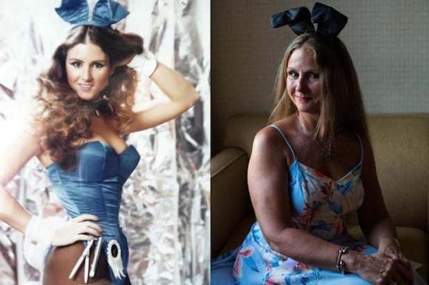 Veja o antes e depois das Coelhinhas da Playboy Sara Naomi Lewkowicz/Reprodução