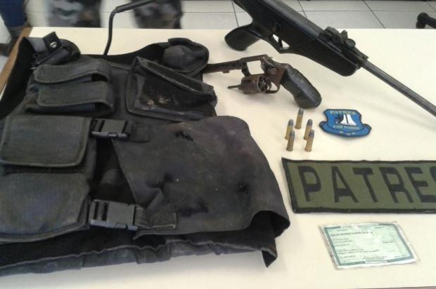 Suspeito de ameaçar moradores da Ilha do Pavão é preso com arma Divulgação/Brigada Militar