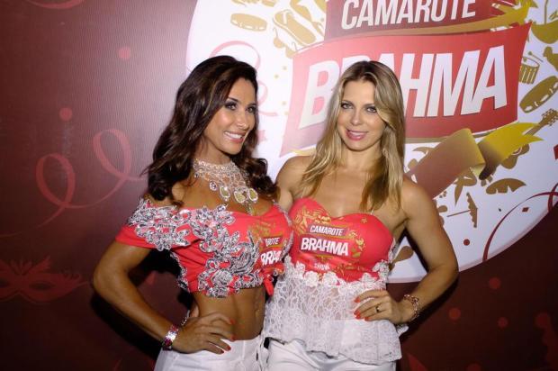 Sheila Mello e Scheila Carvalho marcaram presença em camarote 2erres/Divulgação