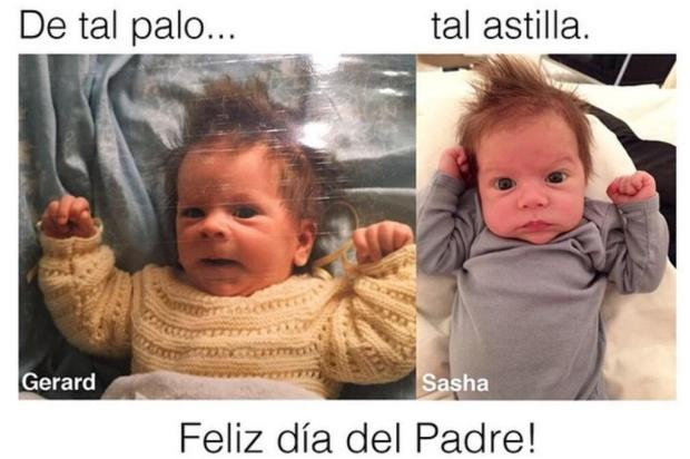 Fofura: Shakira compara o filho caçula com o marido quando bebê Reprodução/Instagram