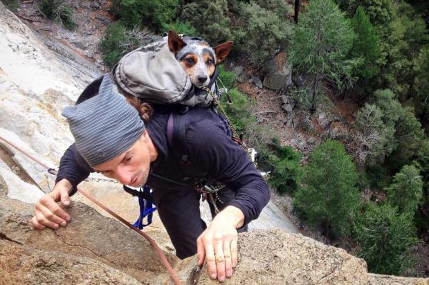 Famoso por praticar esportes radicais com cachorro morre em salto de base jump Facebook Dean Potter/Reprodução