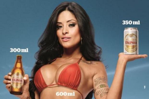 """Conar suspende propaganda com Aline Riscado por ser """"sensual demais"""" Itaipava/Reprodução"""
