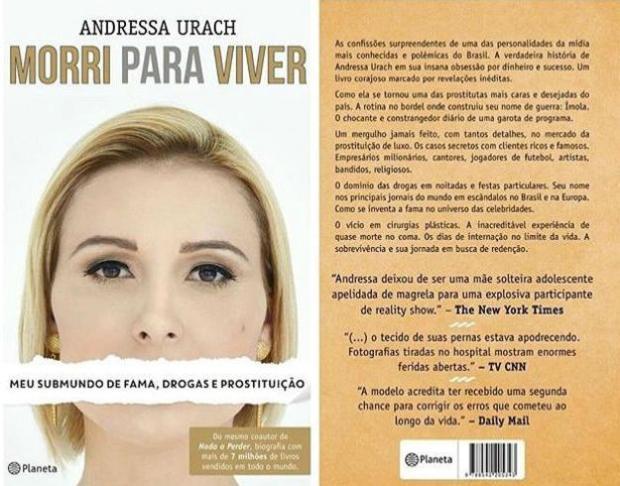 Em biografia, Andressa Urach revela que foi uma das prostitutas mais caras do país Instagram/Reprodução