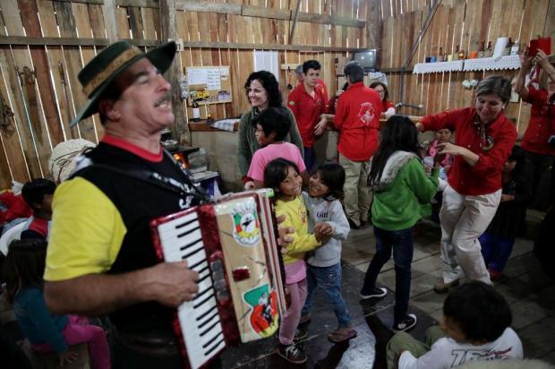 Escola indígena de Itapuã troca experiências no Acampamento Farroupilha Carlos Macedo/Agencia RBS