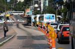 Obra no corredor de ônibus da Avenida Protásio Alves