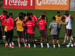 Inter faz treino em preparação para o jogo contra o Passo Fundo