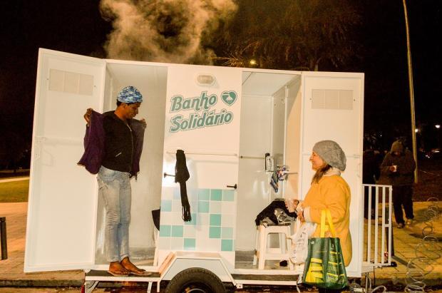 Projeto oferece banho quente para moradores de rua em Porto Alegre Luciana Mena Barreto /Arquivo Pessoal