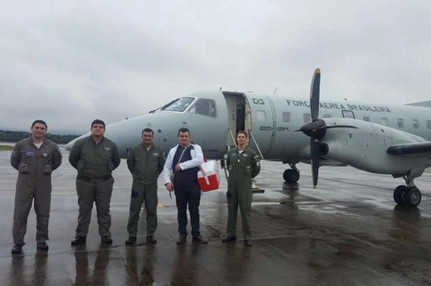 Saindo de Canoas, avião da FAB transporta coração de Lages a Curitiba Divulgação/5º Esquadrão de Transporte Aéreo