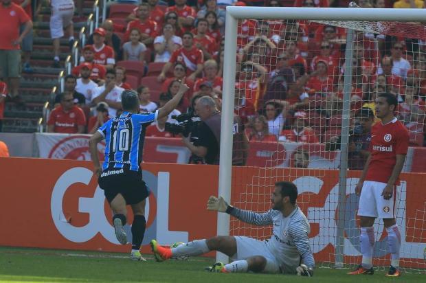 """VÍDEO: Autor do gol da vitória, Douglas ironiza áudio de Argel: """"Vou sair pra beber de trator hoje"""" Jefferson Botega/Agencia RBS"""