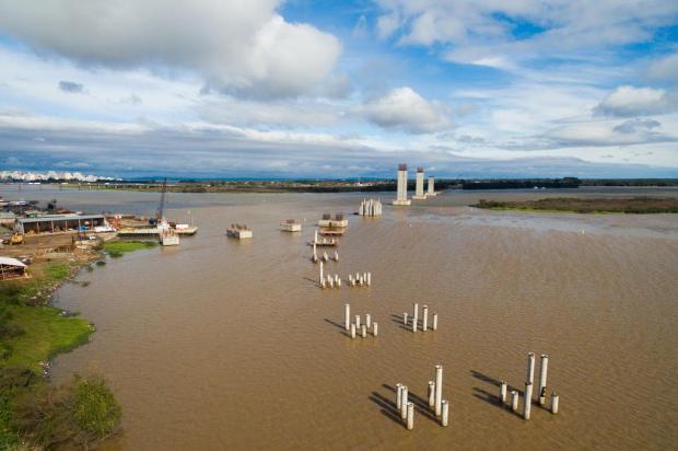 Obra da nova ponte do Guaíba deve perder R$ 100 milhões neste ano Omar Freitas/Agencia RBS