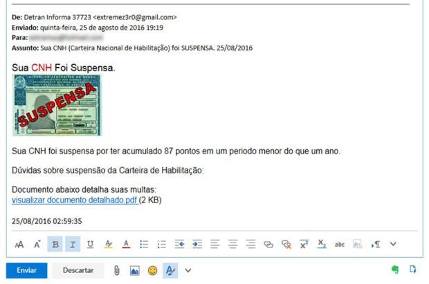 Detran alerta: cuidado com e-mails falsos sobre suspensão da Carteira de Habilitação Reprodução / Detran/RS/Detran/RS