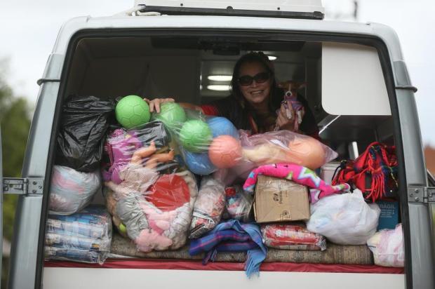Andarilha do Bem: conheça a mulher que já viajou mais de 100 mil quilômetros para ajudar aos outros Lauro Alves/Agencia RBS