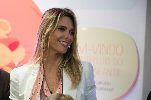 Fernanda Lima leva os filhos à inauguração de sede do Instituto do Câncer Infantil, na Capital Andréa Graiz / Agência RBS/Agência RBS