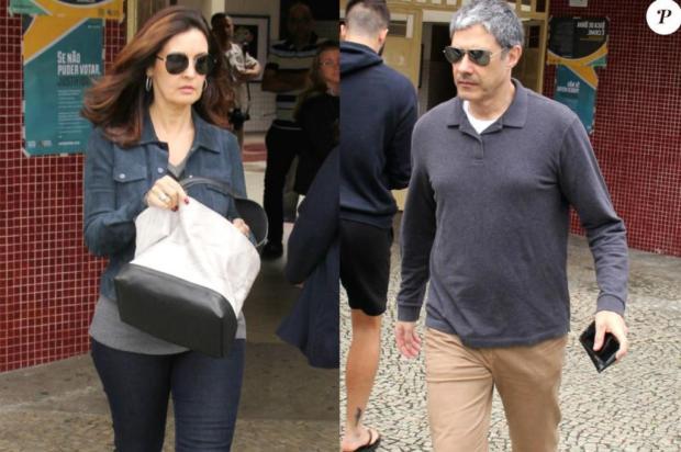 Fátima e Bonner votam namesma seção, no Rio Wallace Barbosa/Ag News