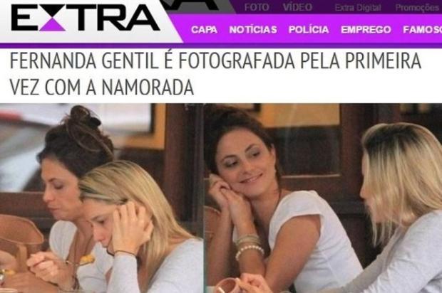 Jornal publica primeiras fotos de Fernanda Gentil com a namorada Extra/Reprodução