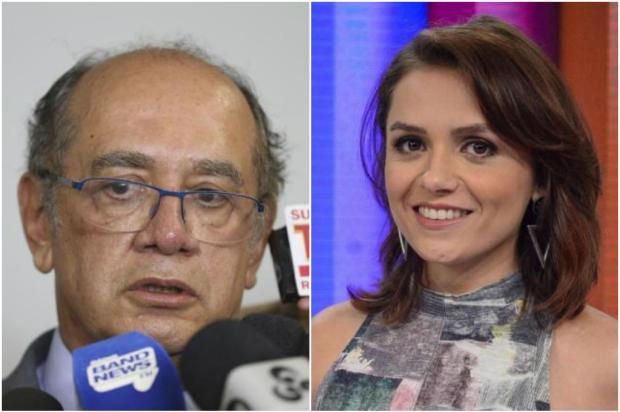 Processo de Gilmar Mendes contra Monica Iozzi é arquivado; atriz pagará indenização de R$ 30 mil Montagem / Agência Brasil/TV Globo/Agência Brasil/TV Globo