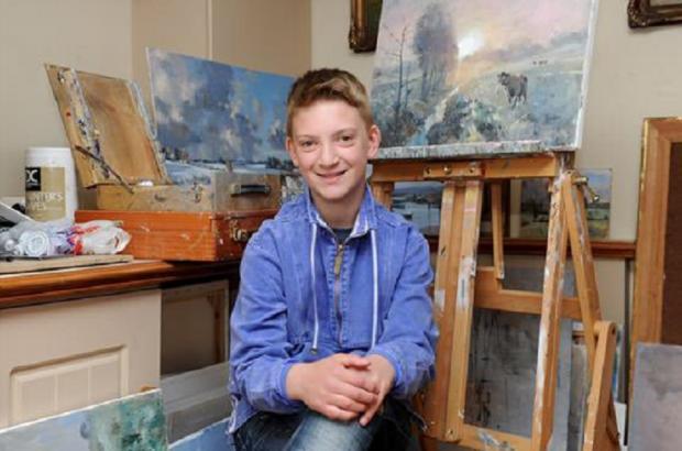 Comparado a gigantes da arte, pintor de 14 anos vende obras a R$230 mil Reprodução / Twitter/Twitter