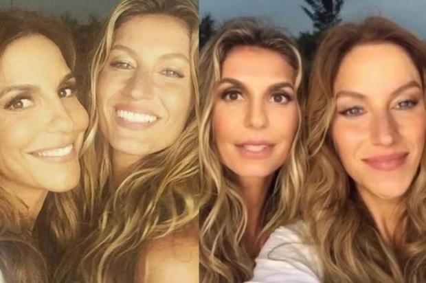 """Ivete Sangalo e Gisele Bündchen """"trocam de rosto"""" com aplicativo e o resultado é maravilhoso Instagram/Reprodução"""
