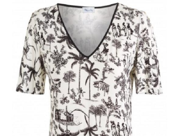 Marca de roupa brasileira cria blusa com estampa de escravos e causa revolta Reprodução/