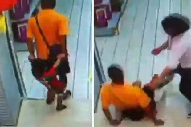 VÍDEO: pai mata o filho acidentalmente ao cair sobre a criança em supermercado Reprodução/