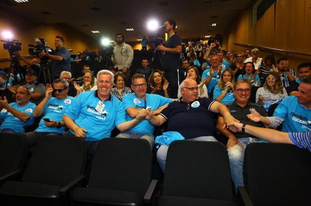 """Pedro Ernesto: """"Vareio eleitoral"""" Lucas Uebel/Grêmio/Divulgação"""