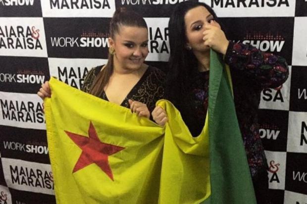"""Homem agride mulheres em show de Maiara e Maraisa e é repreendido: """"bater em mulher no meu show não"""" Reprodução/Instagram"""