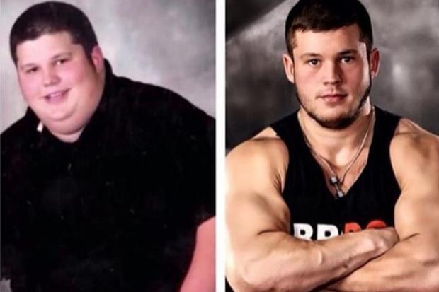 Jovem que era obeso mórbido perde 136kg e vira fisiculturista Instagram / Reprodução/Reprodução