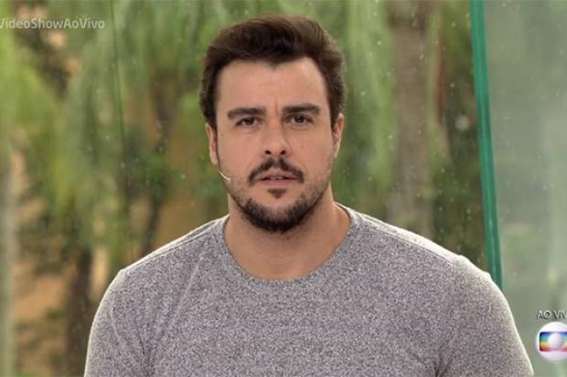 Joaquim Lopes passa por saia-justa ao apresentar matéria sobre a ex-mulher no Vídeo Show TV Globo / Reprodução/Reprodução