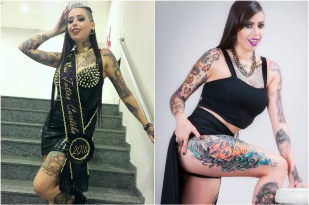Curitibana vence o concurso Musa Brasil Tattoo 2016. Veja fotos da campeã e das outras candidatas Facebook / Reprodução/Reprodução