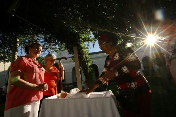 Idosos do Asilo Padre Cacique ensaiam para apresentação do Presépio Vivo Carlos Macedo/Agencia RBS