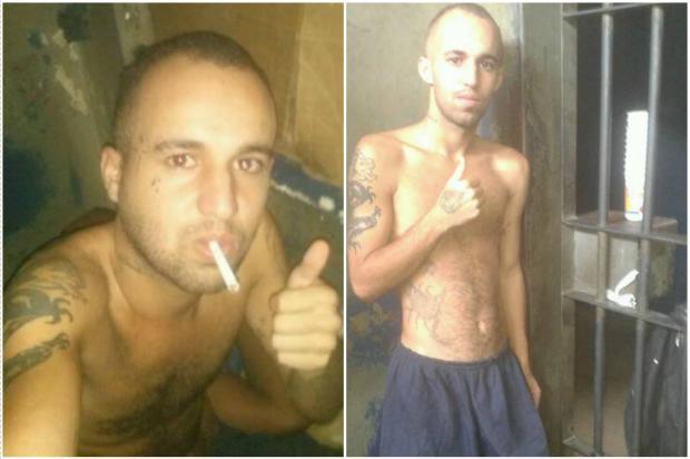 Preso faz selfies na cadeia e publica fotos no Facebook Reprodução / Facebook/Facebook