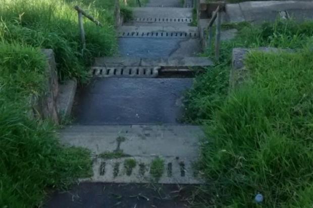 Após quase um ano sem reclamações escadaria em Porto Alegre está sem capina há um mês Arquivo pessoal/Leitor/DG