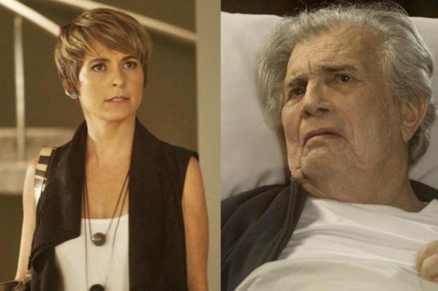 """""""A Lei do Amor"""": Helô impede assassinato de Fausto TV Globo/Divulgação"""