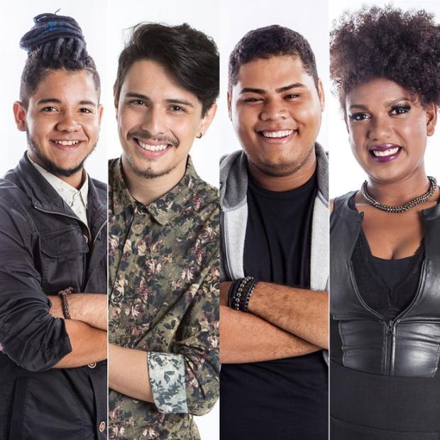 """Quem são os quatro finalistas do """"The voice Brasil"""" Gshow / Reprodução/Reprodução"""
