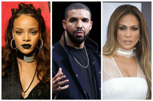 Rihanna deixa de seguir Jennifer Lopez no Instagram após suposto affair com Drake Divulgação/AFP/