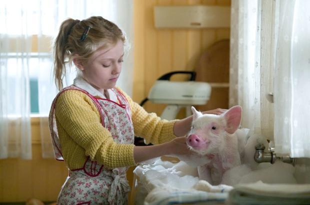 """Sessão da Tarde exibe """"A Menina e o Porquinho"""" nesta terça-feira Reprodução / Reprodução/Reprodução"""