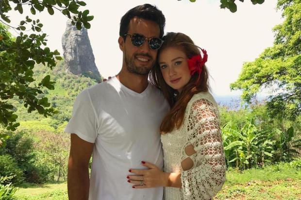 """Marina Ruy Barbosa comemora um ano de namoro com clique romântico: """"De janeiro a janeiro"""" Instagram/Reprodução"""