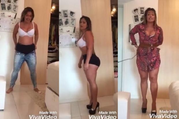 """Com 15kg a mais, ex-BBB Fani publica vídeo bem humorado e dá dicas para """"gordinhas sexies"""" Reprodução / Facebook/Facebook"""
