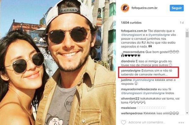 Yanna Lavigne desmente boato de retorno com Bruno Gissoni Reprodução / Instagram/Instagram