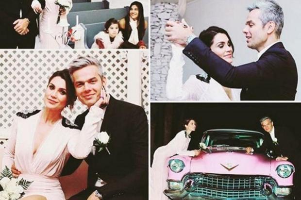 Otaviano Costa e Flávia Alessandra se casam novamente, em Las Vegas Instagram/Reprodução
