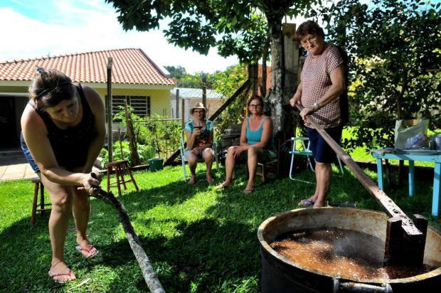 Doce tradição: produção de chimia de figo reúne gerações ao redor do tacho na Serra Diogo Sallaberry/Agencia RBS