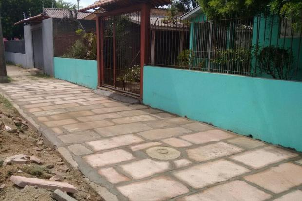 Moradora de São Leopoldo que esperou mais de um ano por conserto de calçada comemora o resultado Arquivo pessoal/Leitor/DG
