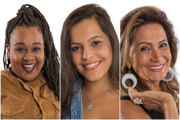 """""""BBB 17"""": enquetes apontam quem será eliminada no paredão triplo entre Roberta, Emilly e Ieda  Montagem sobre fotos do GShow/"""