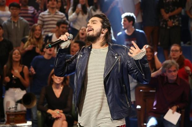 """Luan Santana canta em Pelotas e em Porto Alegre: """"Os gaúchos podem esperar uma apresentação maravilhosa"""" Carol Caminha/GShow"""