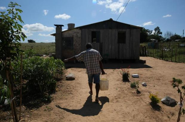 Famílias que vivem em comunidade quilombola de Viamão estão há mais de um mês sem água Tadeu Vilani/Agencia RBS