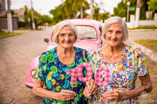 Gêmeas fazem ensaio para comemorar aniversário de cem anos Camila Lima / Divulgação/Divulgação